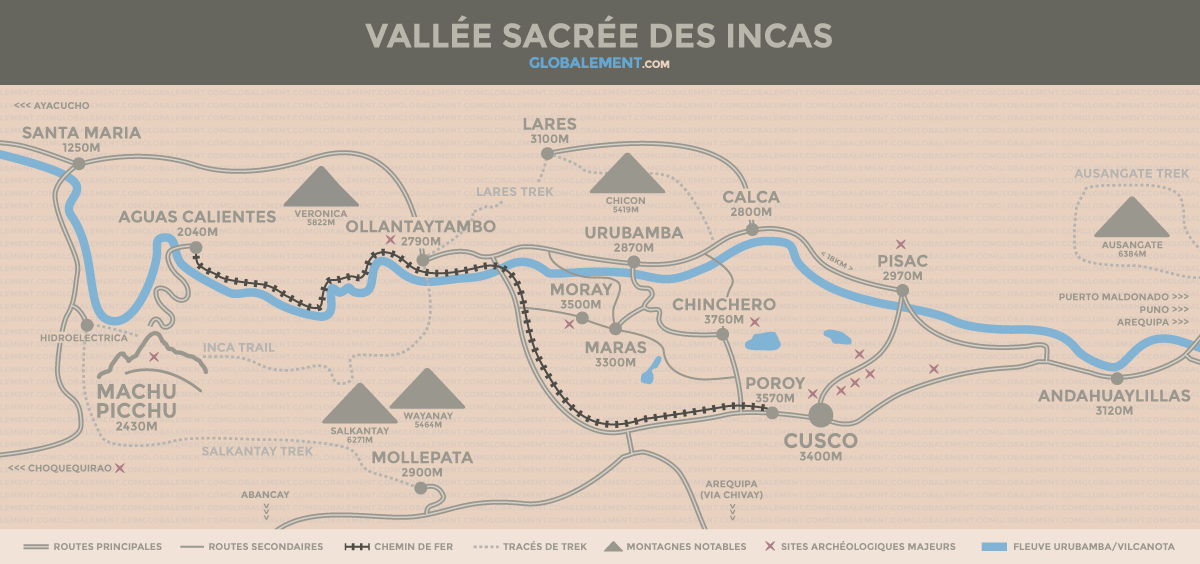 carte vallee sacree cusco perou