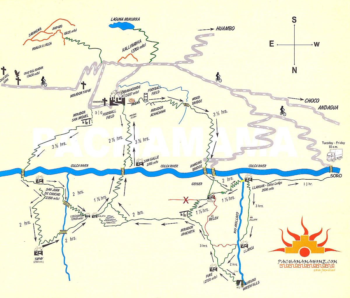 carte canyon colca map