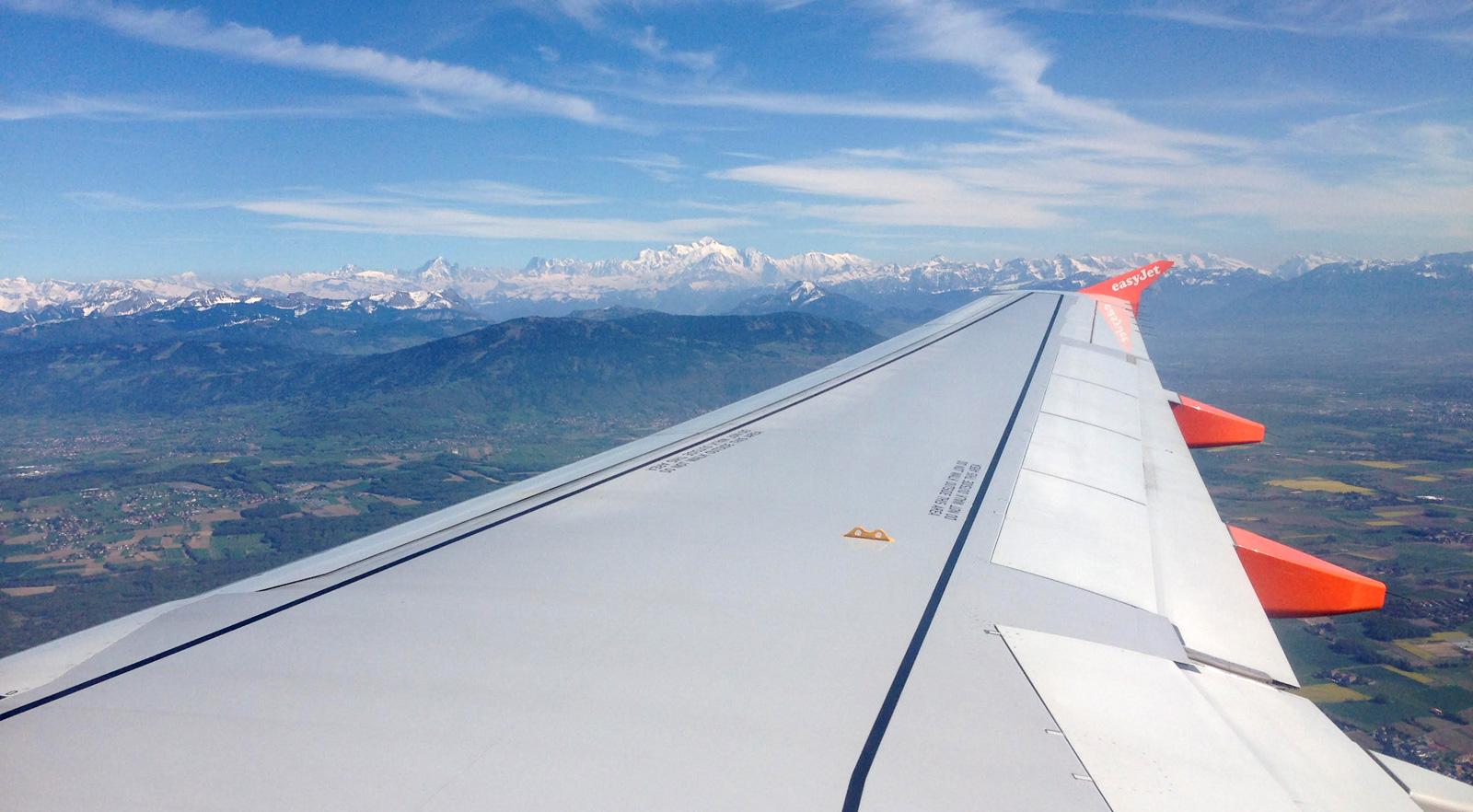 vue aerienne mont blanc